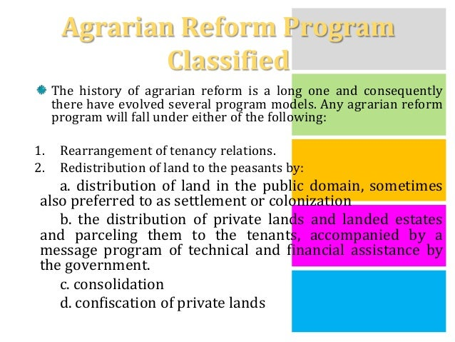 economic aspects of agrarian reform Highlighting its aspects of 'violence' economic and political transformation three decades of agrarian reform in zimbabwe.