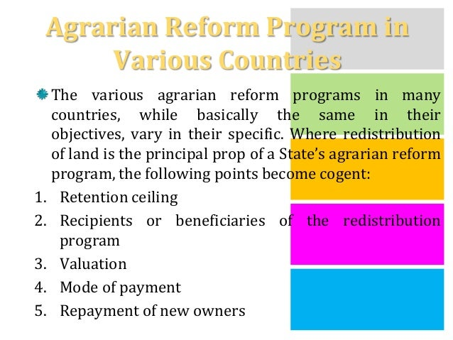 agrarian reform history Gustavo palma murga critiques the agreement on socio-economic issues and  the agrarian situation, describing how piecemeal land reforms were agreed.