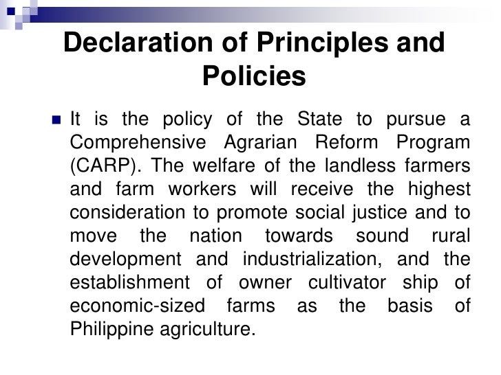 an overview of the comprehensive agrarian reform program carp R a 6657 pdf ra 6657 instituting a comprehensive agrarian reform program carp to promote social justice and industrialization, providing the mechanism for.