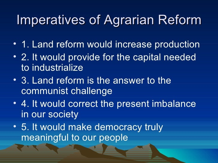 agrarian reform special fund act This act shall be known as the comprehensive agrarian reform law of 1988   and the availability of funds and resources to implement and support the program   the special agrarian courts shall have the powers and prerogatives.