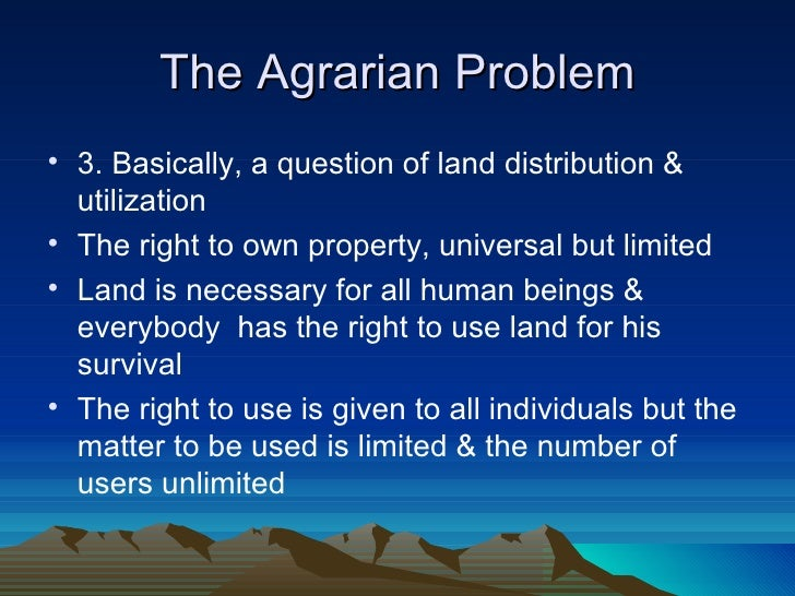 agrarian reform in the philippines Revolution rural reconstruction, as envisioned and practiced by the philippine  rural  agrarian reform in the philippines is mainly about social justice and only.