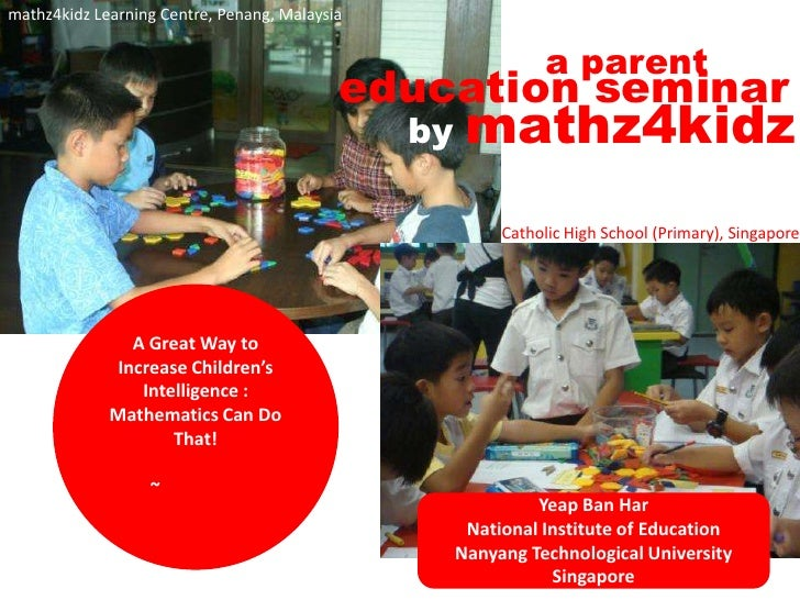 A Great Way To Increase Children Intelligent! Math Can Do That!