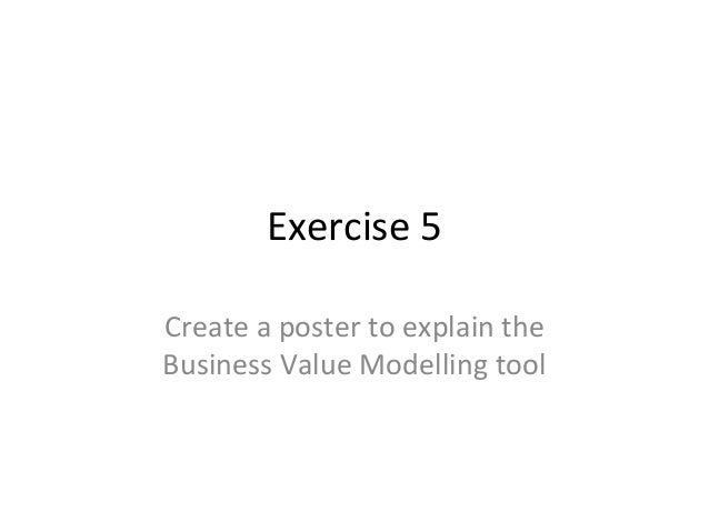 Exercise 5 Create a poster to explain the Business Value Modelling tool