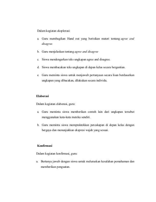 Rpp Agreement And Disagreement Ktsp
