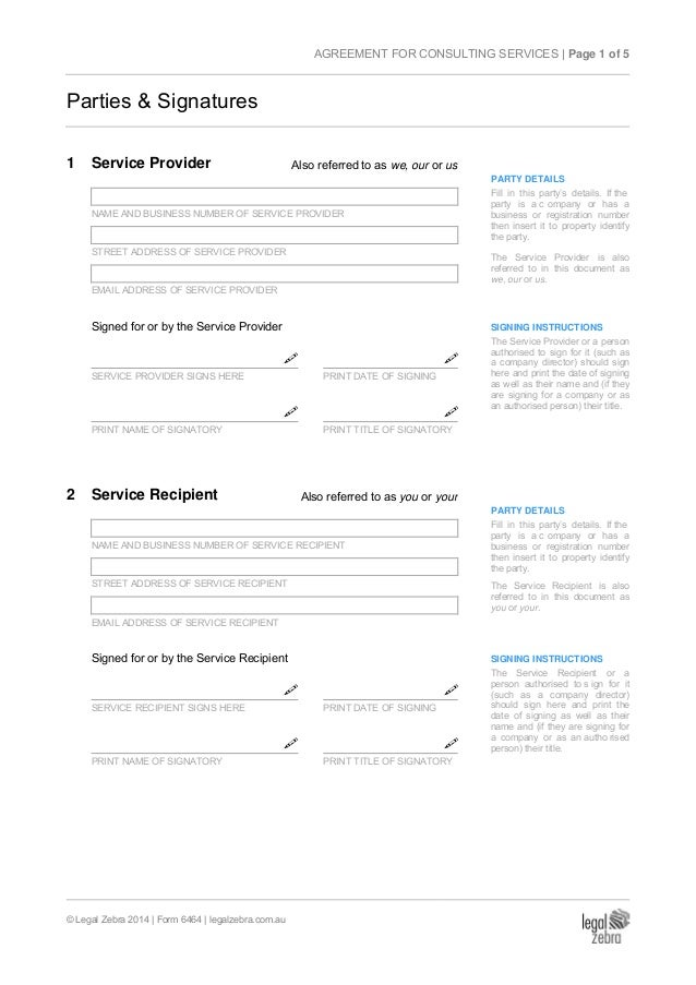 AGREEMENT FOR CONSULTING SERVICES SAM PLE; 2. AGREEMENT ...