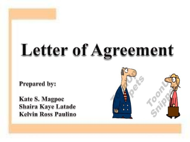 An Agreement Letter Is A Formal Type Of Written Communication.  Letter Of Agreement Between Two Parties