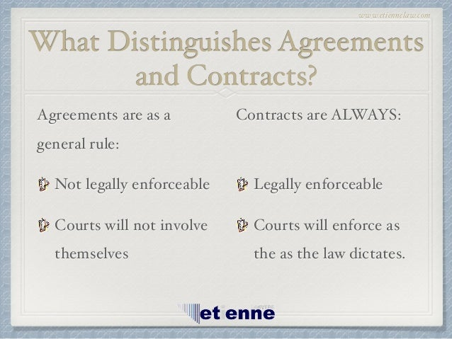 When Is An Agreement A Contract