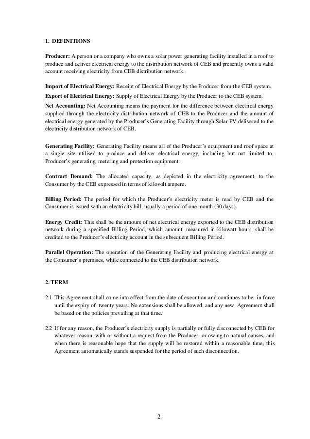 Agreements For Net Metering Net Accounting Net Plus