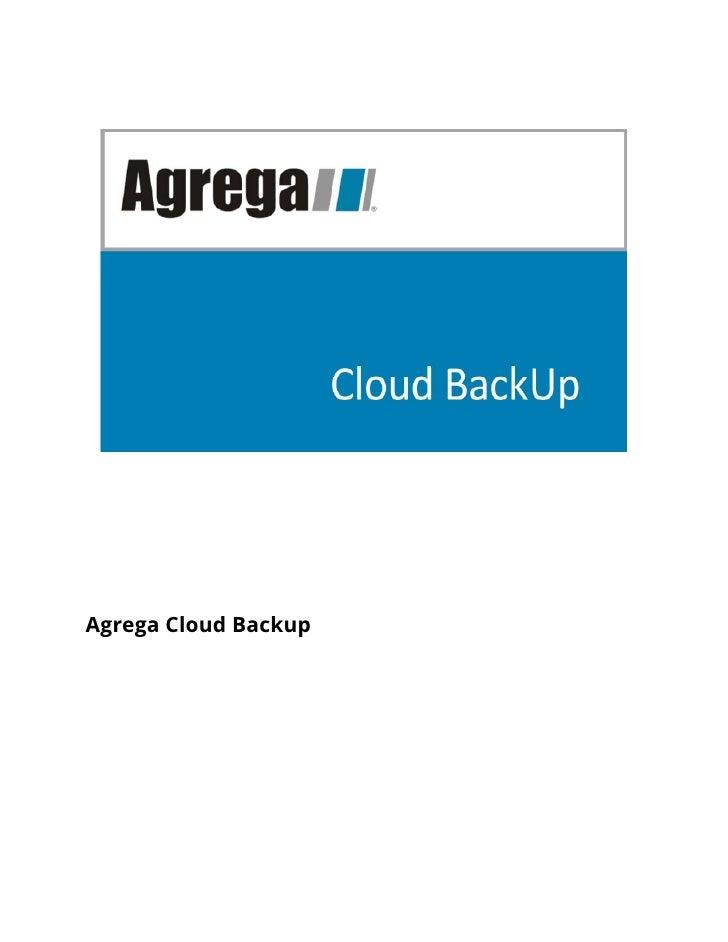 Agrega Cloud Backup
