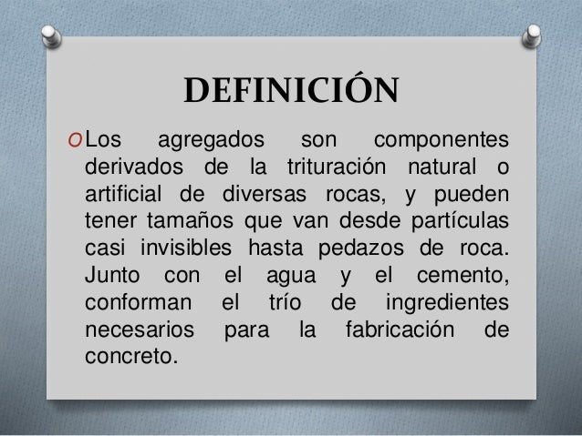 Agregados for Roca definicion