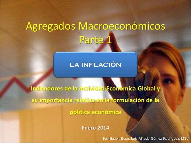 Agregados Macroeconómicos Parte 1 Indicadores de la Actividad Económica Global y su importancia relativa en la formulación...