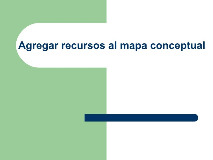 Agregar recursos al mapa conceptual