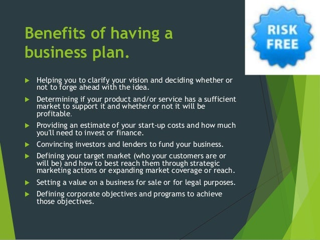 benefits of a good business plan