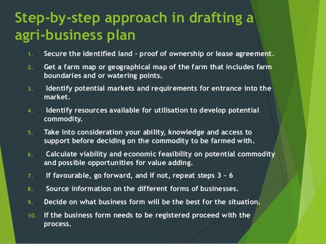Agri Business Venture & Business plan