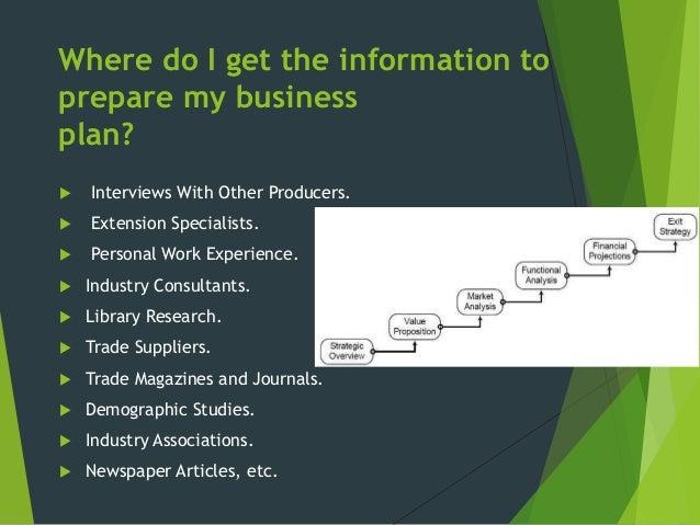 Venture business plans