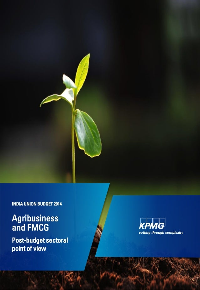 Agribusiness and FMCG Post-budget sectoral point of view INDIA UNION BUDGET 2014
