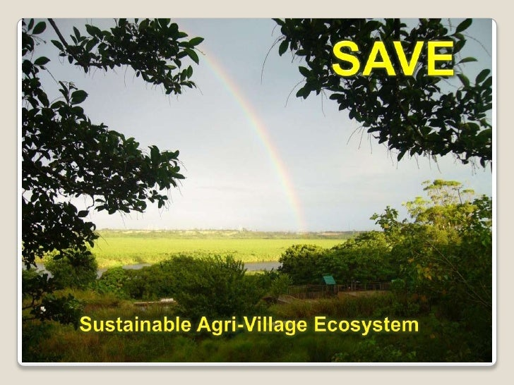 SAVE<br />       Sustainable Agri-Village Ecosystem<br />