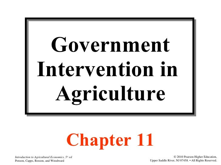 Government Intervention in  Agriculture Chapter 11