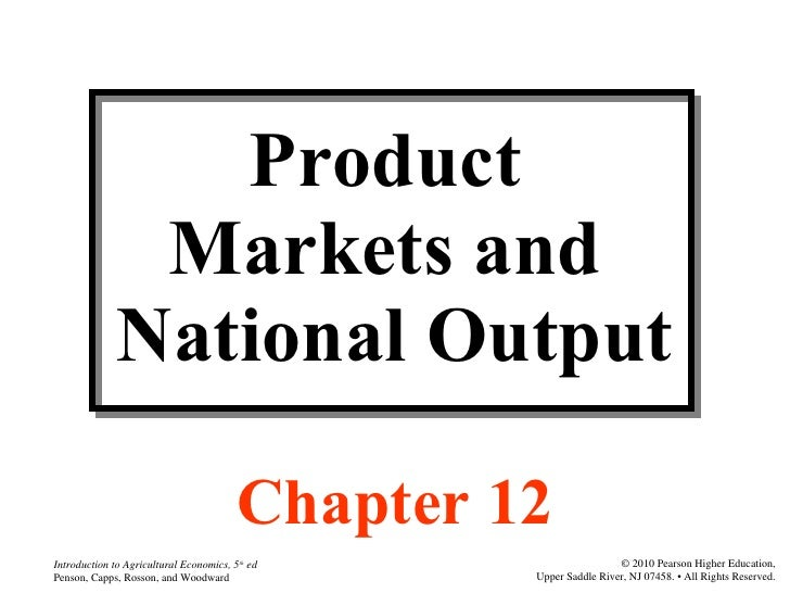 Agri 2312 chapter 12 product markets and national output
