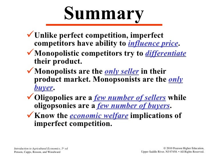 imperfect market and perfect market Ch 10 perfect competition, monopoly, and monopolistic competition 2 3 4 four broad categories of market types perfect competition.