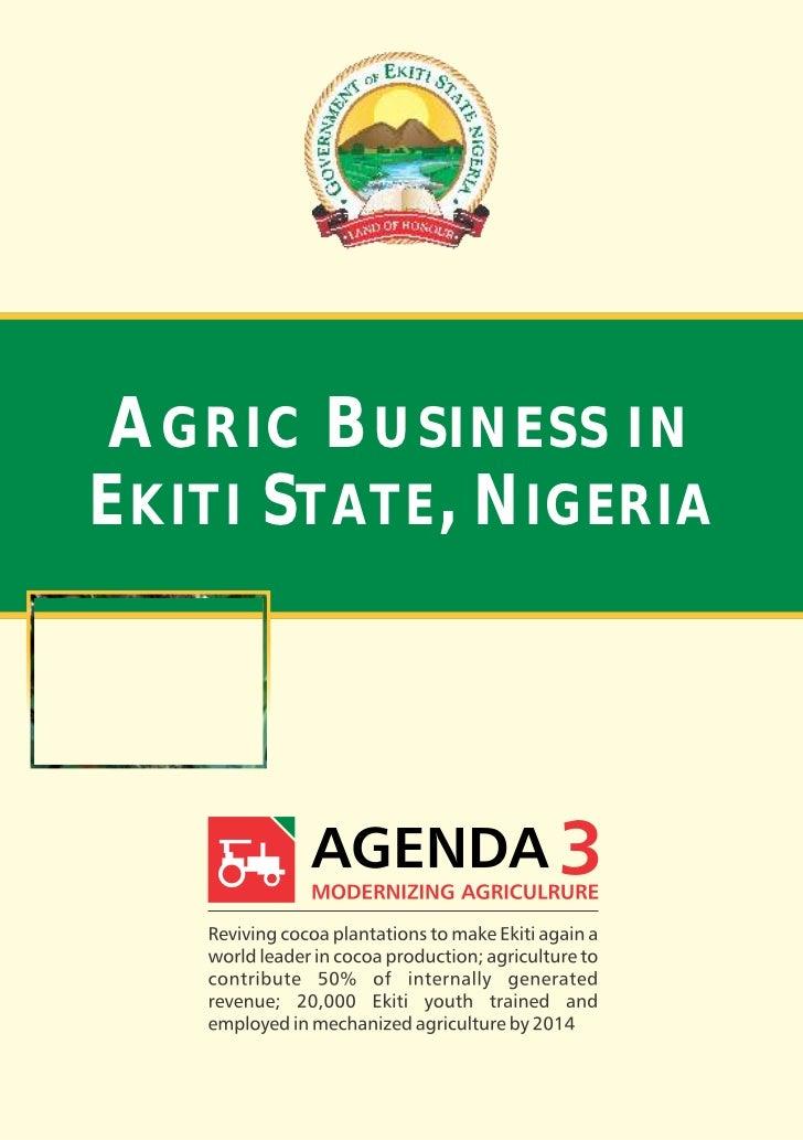 AGRIC BUSINESS INEKITI STATE, NIGERIA     www.ekitistate.gov.ng