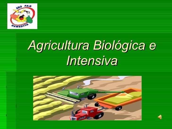 Agricultura Biológica e Intensiva