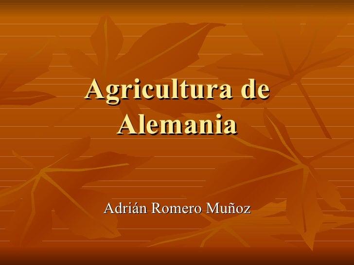 Agricultura de Alemania Adrián Romero Muñoz