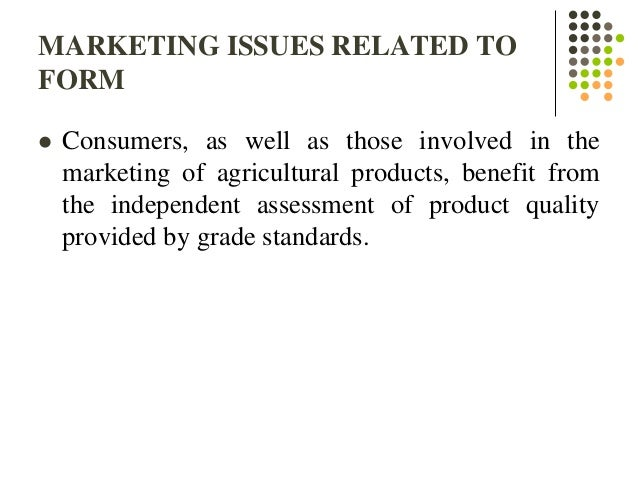 issues in marketing Marketing is the process by which the producer and consumer communicate to enable the producers to sell their products to the consumers the producers engage in introducing their brands to the prospective or already existing customers, informing them of the various specifications which make their.