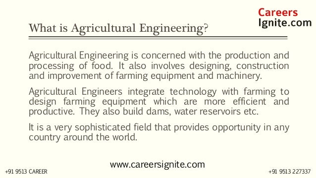 Agriculture Engineering Courses, Colleges, Eligibility, Jobs, Salary in India Slide 2