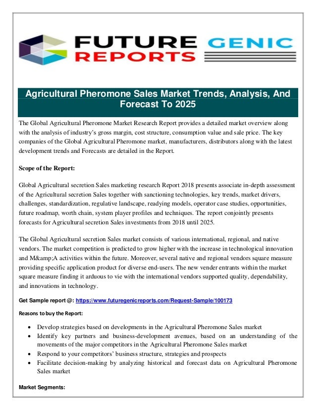 dbdb1238a8 Agricultural Pheromone Sales Market Analysis based on Agricultural and  Commercial Applications 2018