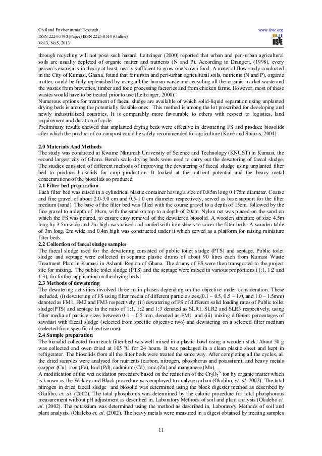 Civil and Environmental Research www.iiste.orgISSN 2224-5790 (Paper) ISSN 2225-0514 (Online)Vol.3, No.5, 201311through rec...