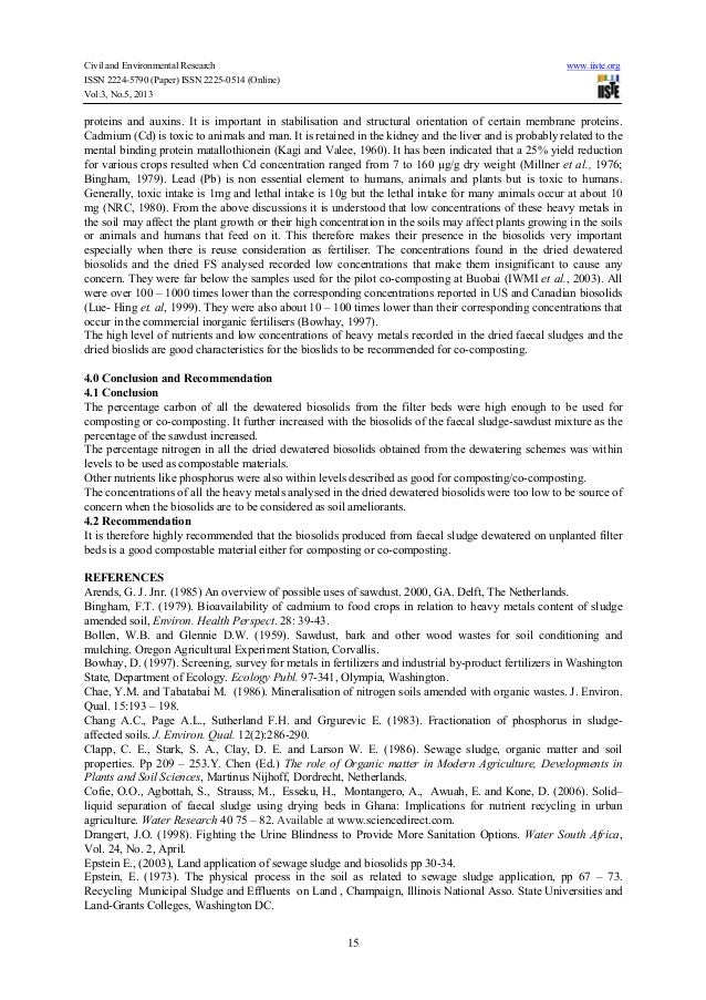 Civil and Environmental Research www.iiste.orgISSN 2224-5790 (Paper) ISSN 2225-0514 (Online)Vol.3, No.5, 201315proteins an...
