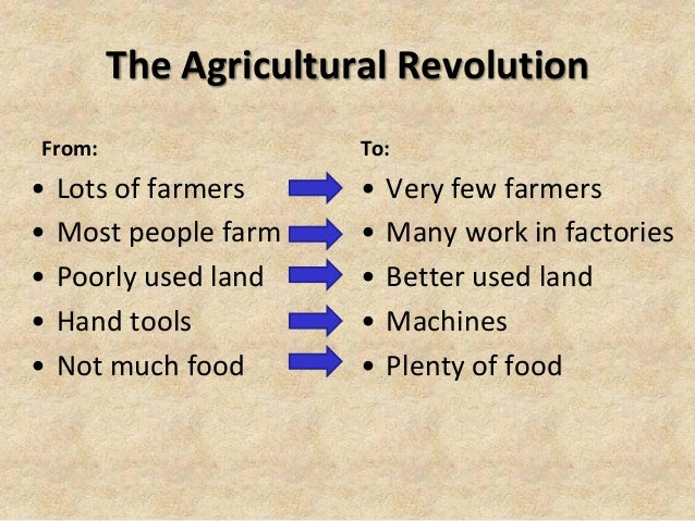 how the agricultural revolution changed everything essay