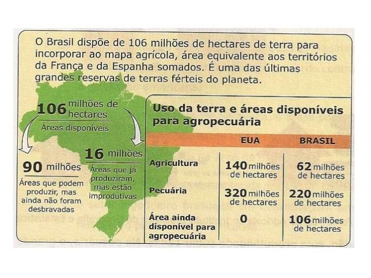 Fatores que ocorreram ao longo da história brasileira• Herança colonial de produção agrícola em       Medidas necessárias ...