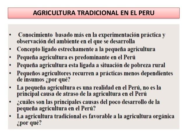 AGRICULTURA TRADICIONAL EN EL PERU