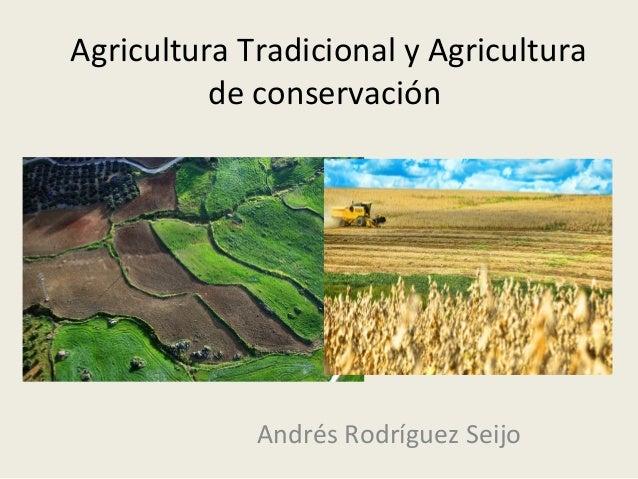 Agricultura Tradicional y Agricultura de conservación Andrés Rodríguez Seijo
