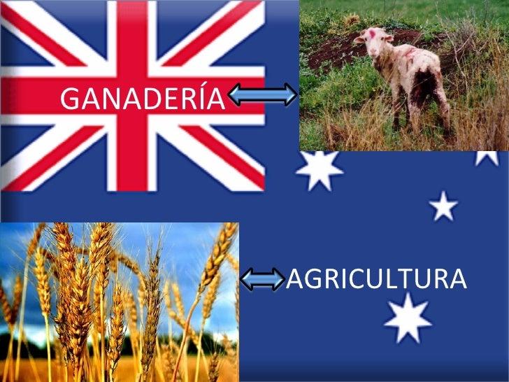 GANADERÍA            AGRICULTURA