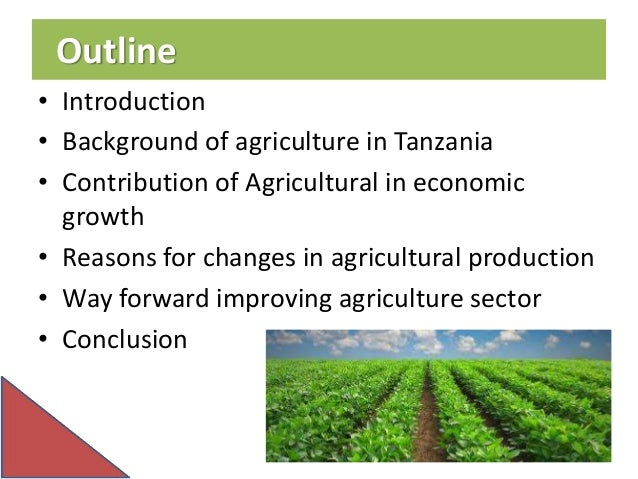 role of agriculture in development The challenges of agriculture and rural development in africa: agricultural development, a subset of economic development, implies a sustained increase in.