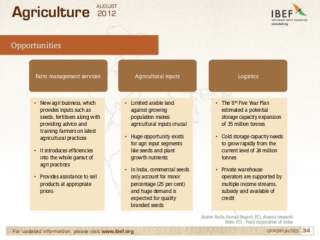AUGUSTAgriculture                             2012Opportunities         Farm management services                    Agricu...