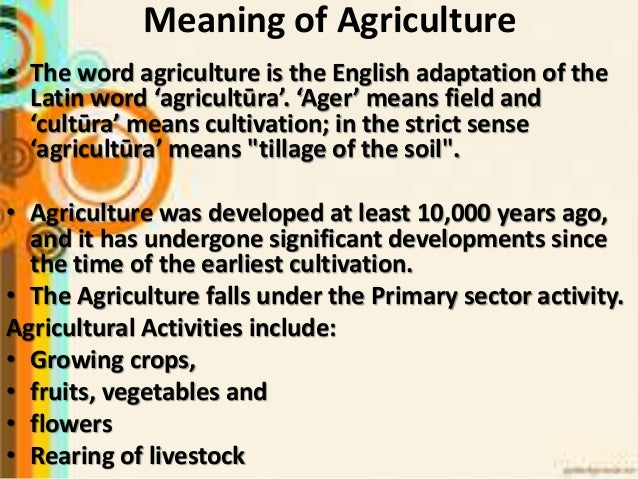 Agriculture geography class 8th