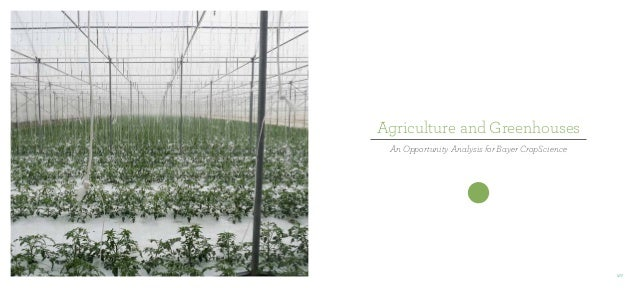 Agriculture and Greenhouses An Opportunity Analysis for Bayer CropScience  177