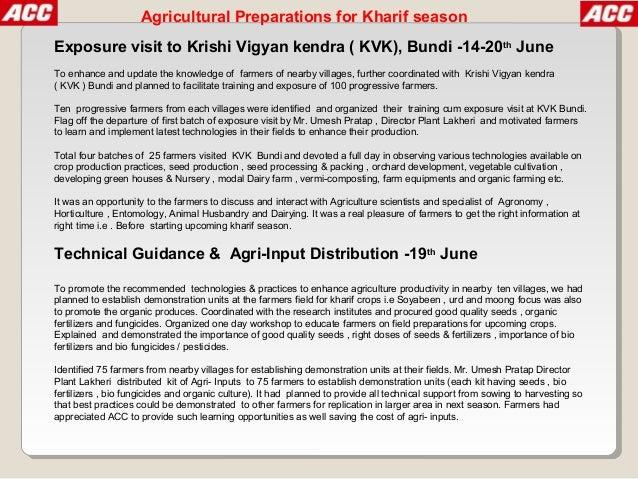 Agriculture development program lakheri 2013 Slide 3