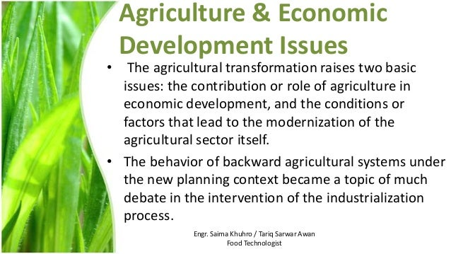 the role of agriculture in development