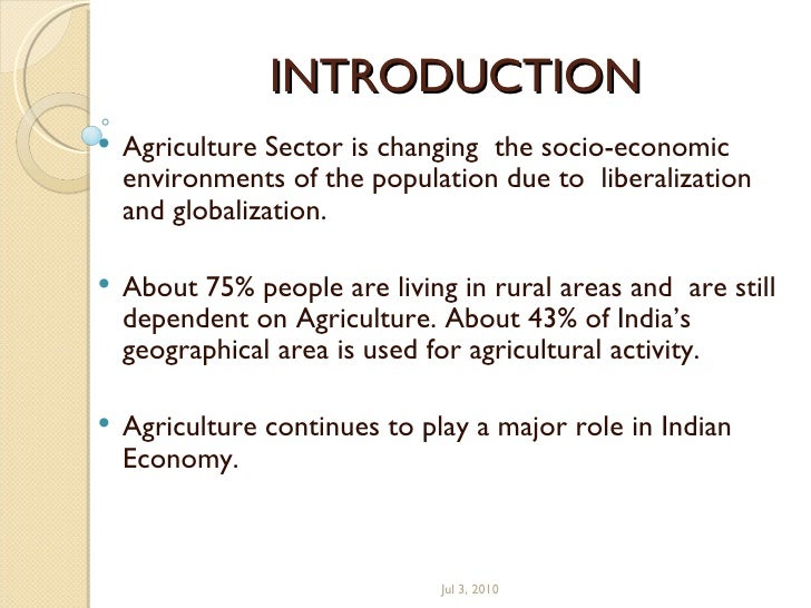 essay on role of agriculture in indian economy Agriculture is the backbone of the indian economydespite our major emphasis on the industrial development, agriculture continues to occupy a place of pride in our.