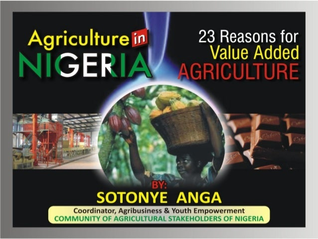 Agriculture in nigeria   23 reasons for value added agriculture by sotonye anga-1