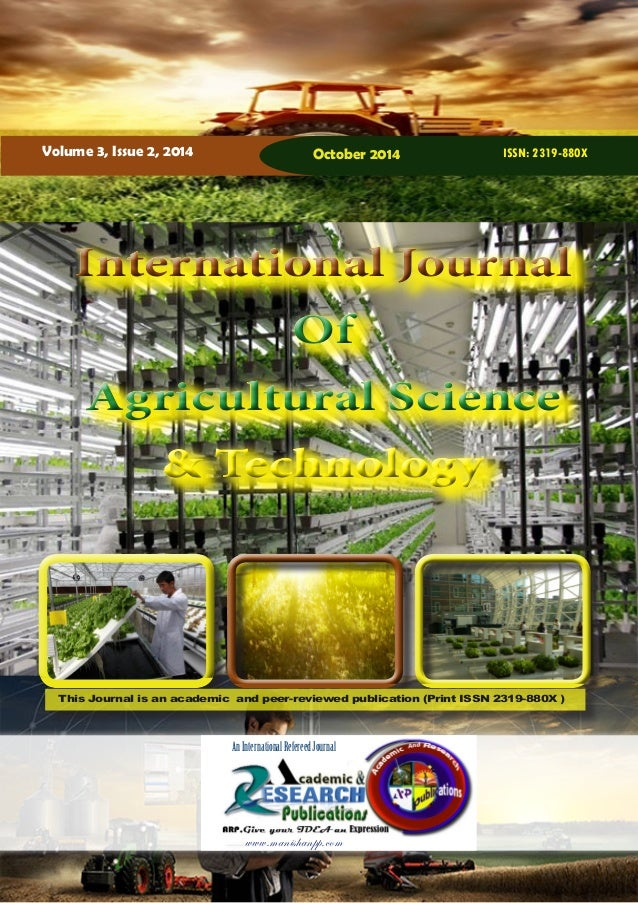 International Journal of Agricultural Science and Technology