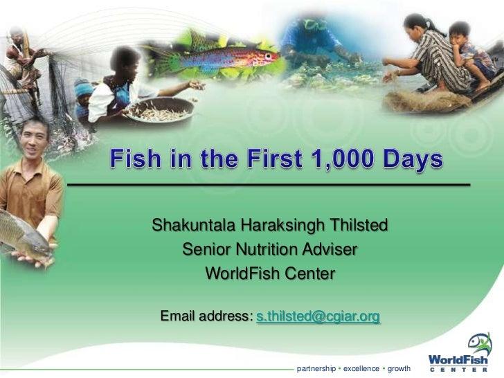 Shakuntala Haraksingh Thilsted   Senior Nutrition Adviser      WorldFish Center Email address: s.thilsted@cgiar.org       ...