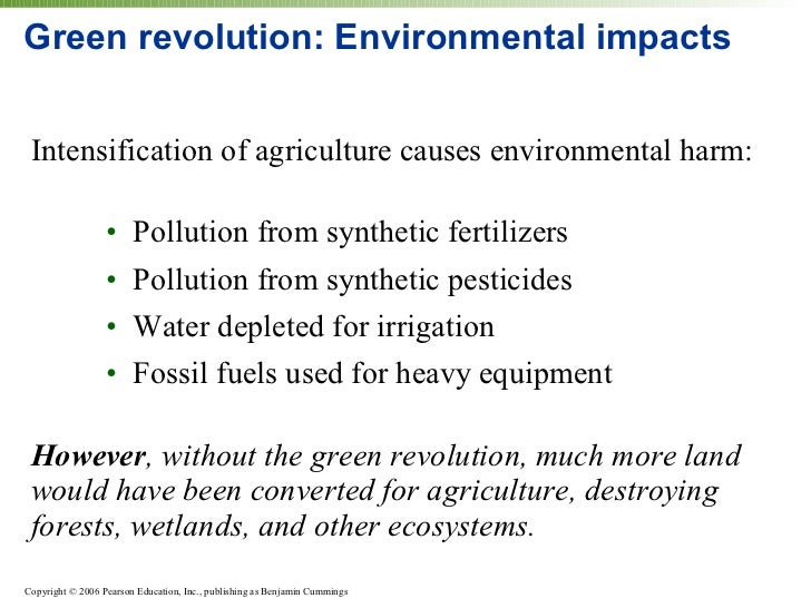 green revolution and its impact on environment