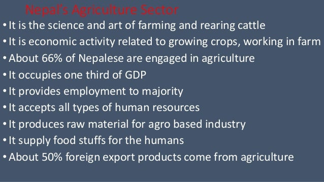 Agriculture sector & industrial sector of Nepal