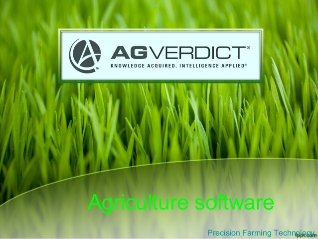 Agriculture software Precision Farming Technology